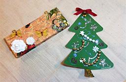 絵付け教室の作品(クリスマス)